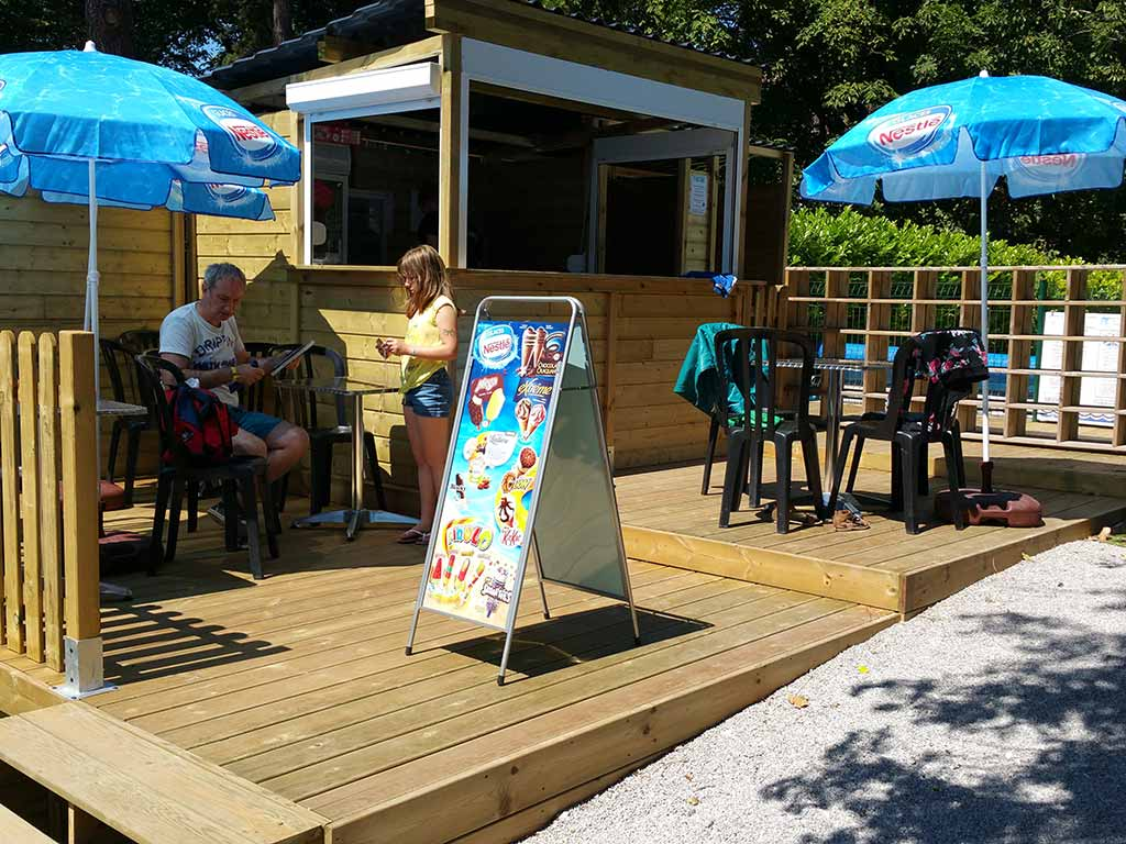 Kiosk ice and drinks camping Baie de Somme